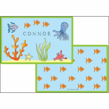personalized placemat - under the sea