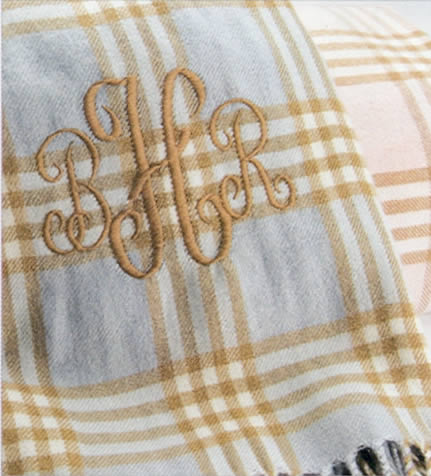 Personalized plaid baby blanket by a soft idea personalized plaid baby blanket negle Gallery