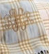 personalized plaid baby blanket