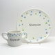 personalized plate and cup set - stars