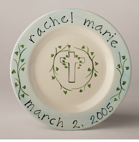 personalized plate - christening
