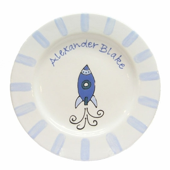 personalized plate - rocket