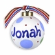 personalized polka dot ball ornament (boy)