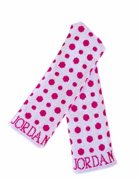personalized polka dots hat