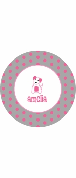personalized puppy plate(style 1p)