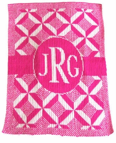 personalized puzzle monogram blanket
