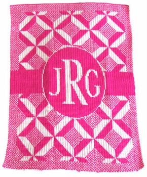 personalized puzzle monogram stroller blanket