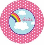 personalized rainbow plate(style 1p)
