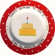 personalized red happy birthday plate