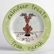 personalized reindeer treats plate