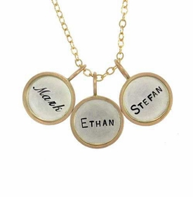 personalized rimmed charm necklace