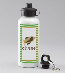 personalized rocket bottle for boys