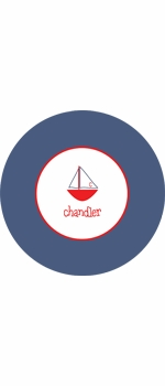 personalized sailboat boy plate (style 1p)
