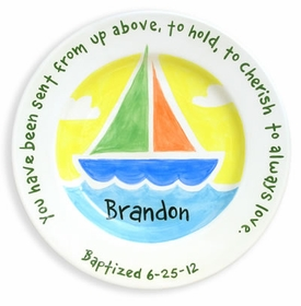 personalized sailboat plate