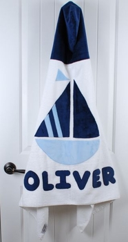 personalized sailboat towel