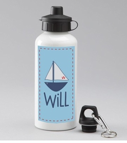 personalized sailboat water bottle