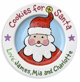 personalized santa cookie plate