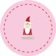 personalized santa holiday plate (style 1p)