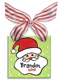personalized santa ornament (boy)