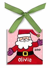personalized santa ornament (girl)