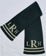 personalized scarf with monogram and double line