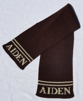 personalized scarf with name and double line