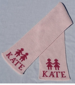 personalized scarf with name and paperdolls