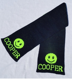 personalized scarf with name and smiley