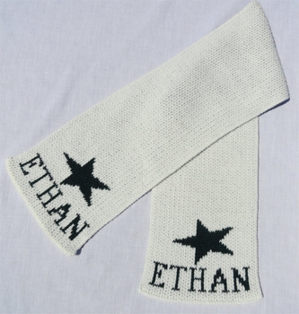 personalized scarf with name and star