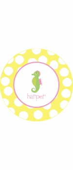 personalized seahorse plate(style 1p)