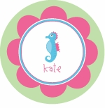 personalized seahorse plate(style 2p)