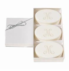 Personalized Signature Spa Soaps, Aqua Mineral Trio