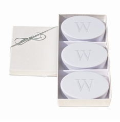 Personalized Signature Spa Soaps, Wild Blue Lupin Trio