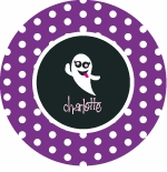 personalized silly ghost holiday plate (style 1p)