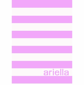 personalized simple stripe blanket