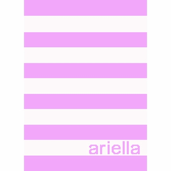 personalized simple stripe stroller blanket