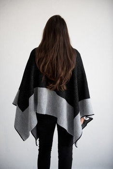 personalized single border blanket poncho