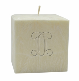 "personalized single initial candle - 4"" palm wax"
