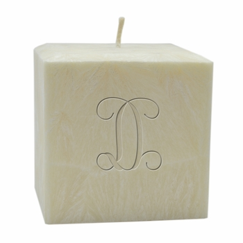 """personalized single initial candle - 4"""" palm wax"""