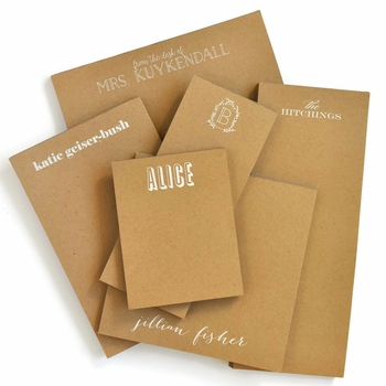 Personalized Skinny Kraft Note Pad