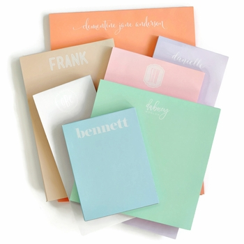 Personalized Skinny Pastel Note Pad