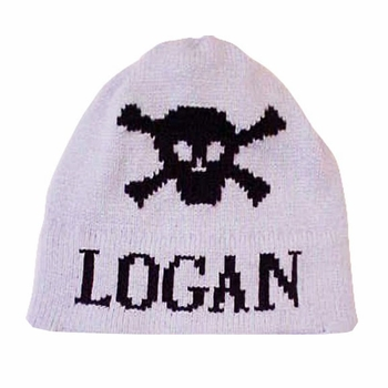 personalized skull crossbones hat