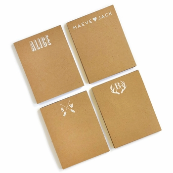 Personalized Small Kraft Note Pad