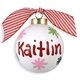 personalized snowflake ball ornament (girl)