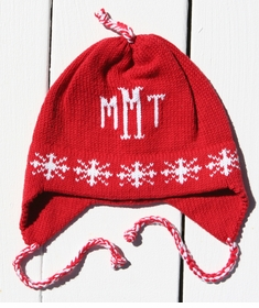personalized snowflake hat