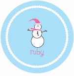 personalized snowman holiday plate (style 1p)