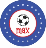 personalized soccer boy plate (style 2p)