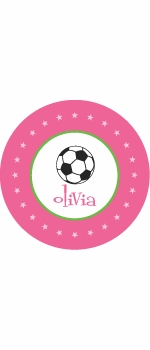 personalized soccer plate(style 1p)