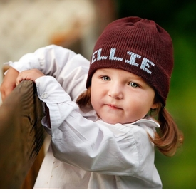 personalized solid knit boarder hat