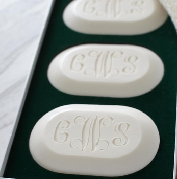 personalized spa soap (set of three)